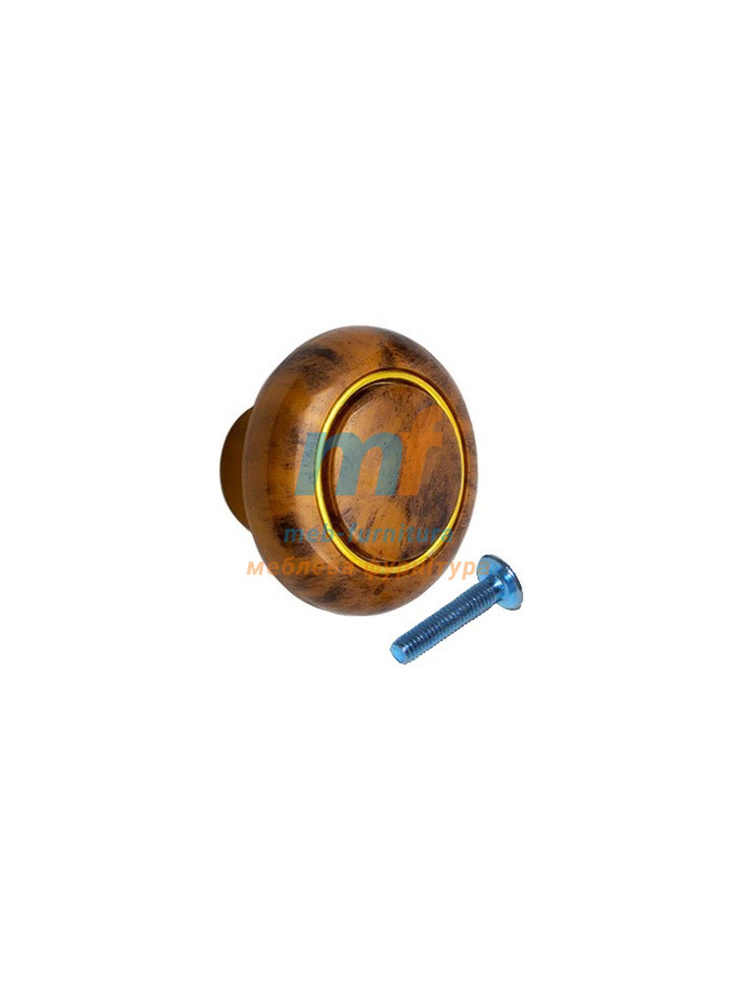 Мебельная ручка Кнопка кольцо- 613