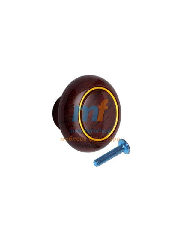 Мебельная ручка Кнопка кольцо- 616