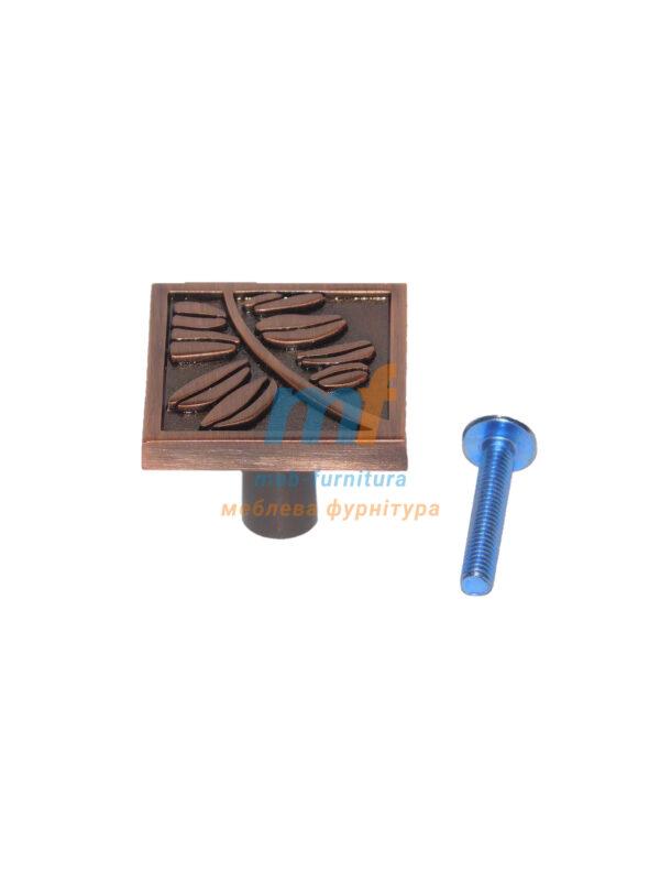 Мебельная ручка Кнопка квадрат K-107 Медь