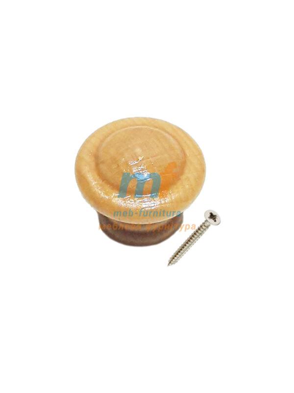 Мебельная ручка Кнопка малая деревянная - 01