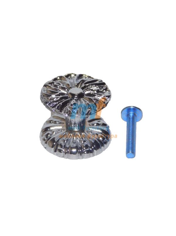 Мебельная ручка кнопка 1-05 Хром