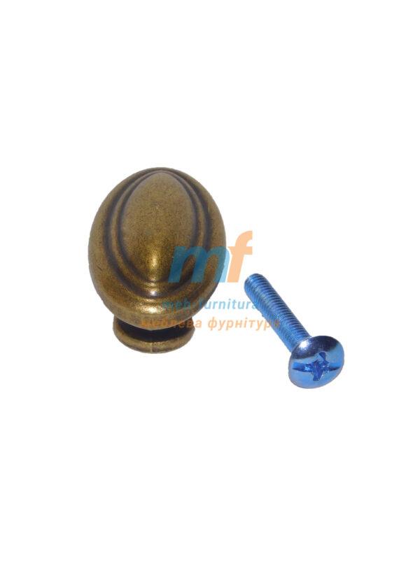 Мебельная ручка кнопка 1-300 Бронза