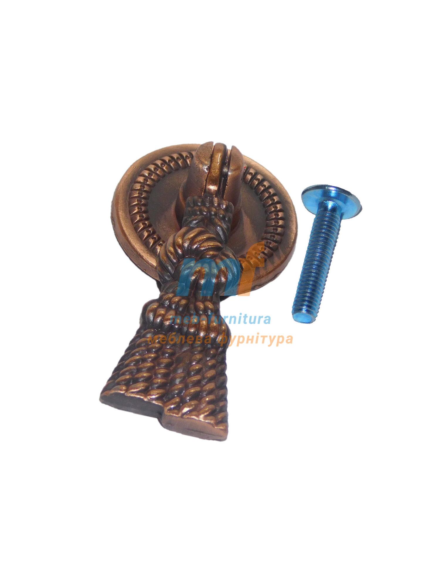 Ручка капля 1401 Веревка - коричнева