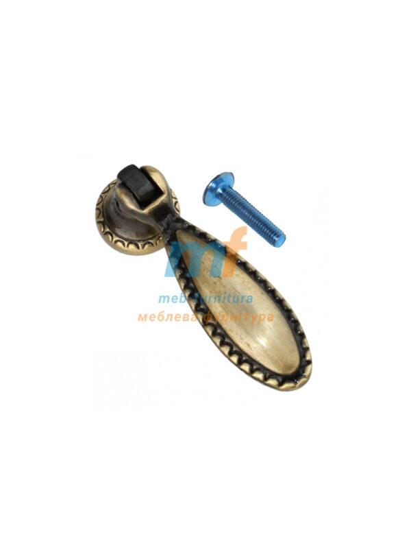 Ручка капля 1407 - бронза