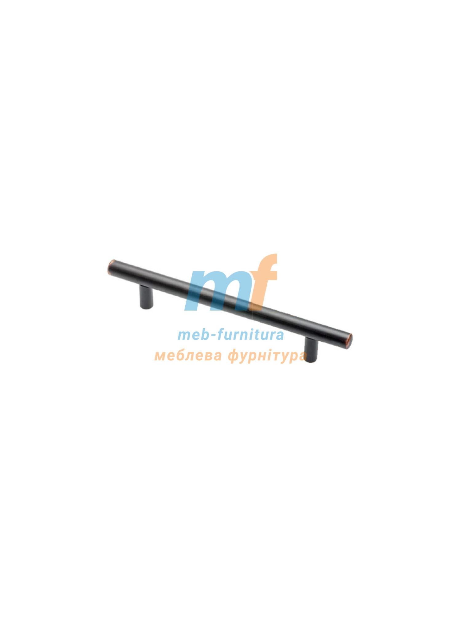 Ручка мебельная релинг 128мм - черная