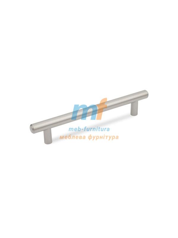 Ручка мебельная релинг 128мм - сатин