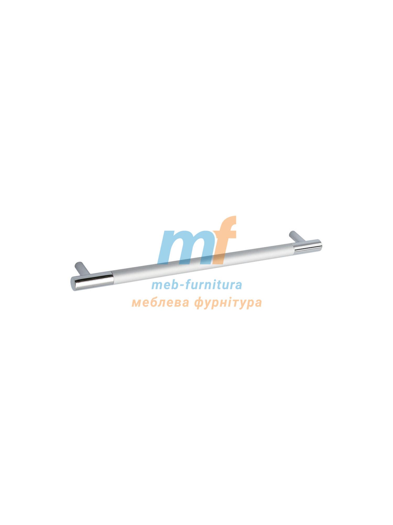 Ручка мебельная релинг 160мм - хром+мат.хром