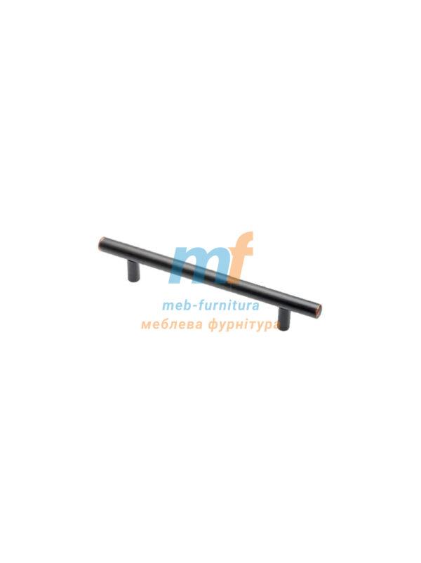 Ручка мебельная релинг 96мм - черная