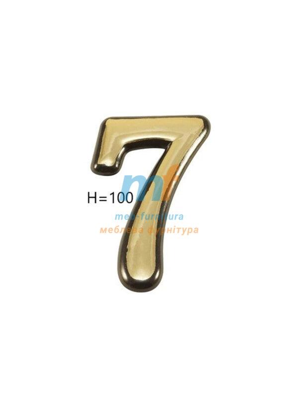 Номерки пластиковые H100мм №7 (золото)