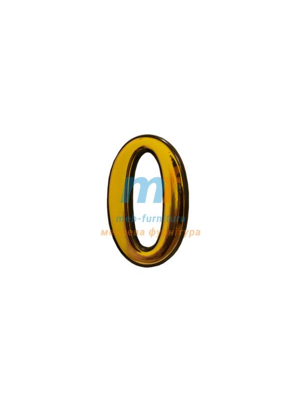 Номерки пластиковые H50мм №0 (золото)