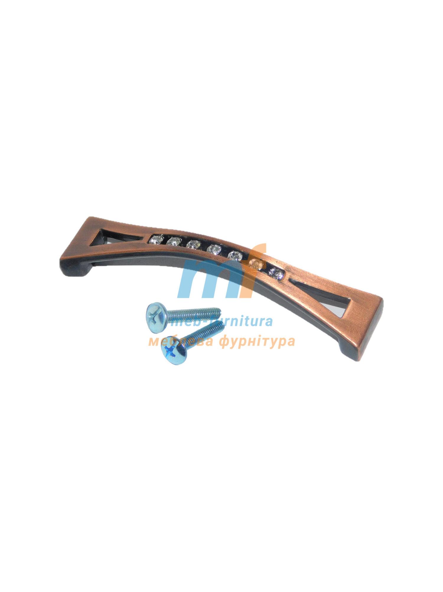 Ручка мебельная KRISTAL 01-128mm Медь