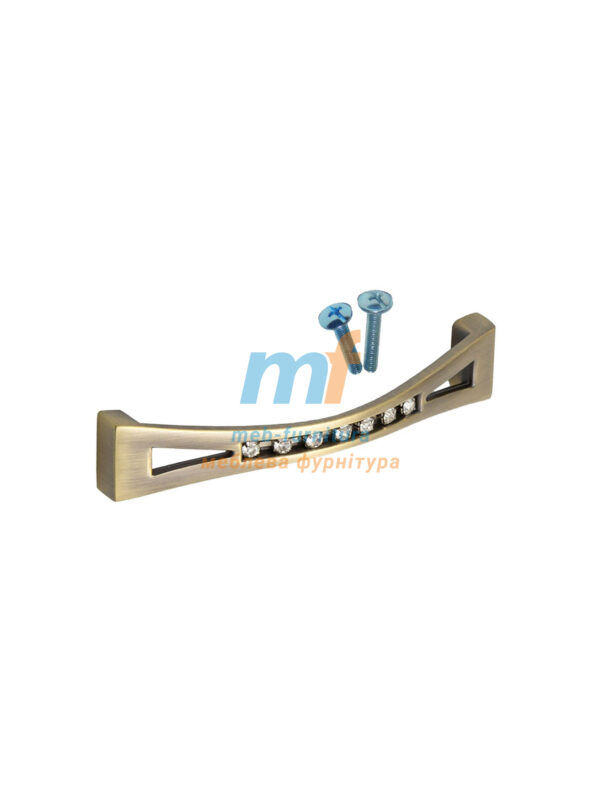 Ручка мебельная KRISTAL 01-96mm Бронза