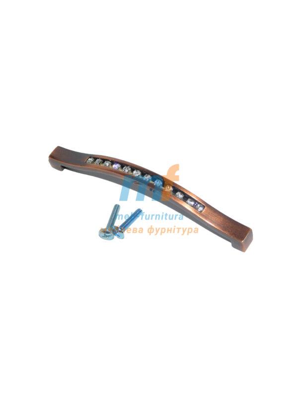 Ручка мебельная KRISTAL 02-128mm Медь