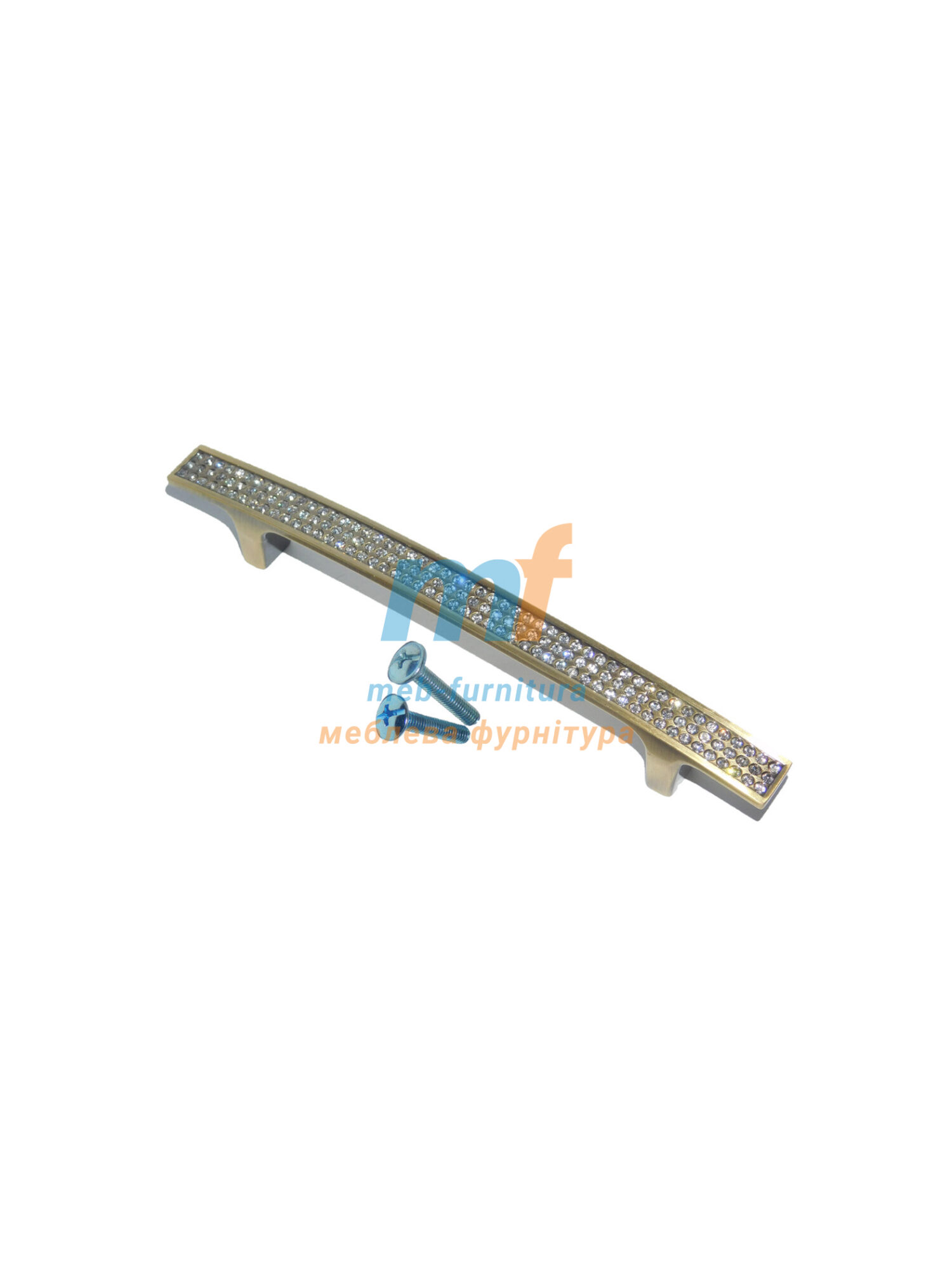 Ручка мебельная KRISTAL 05-128mm Бронза