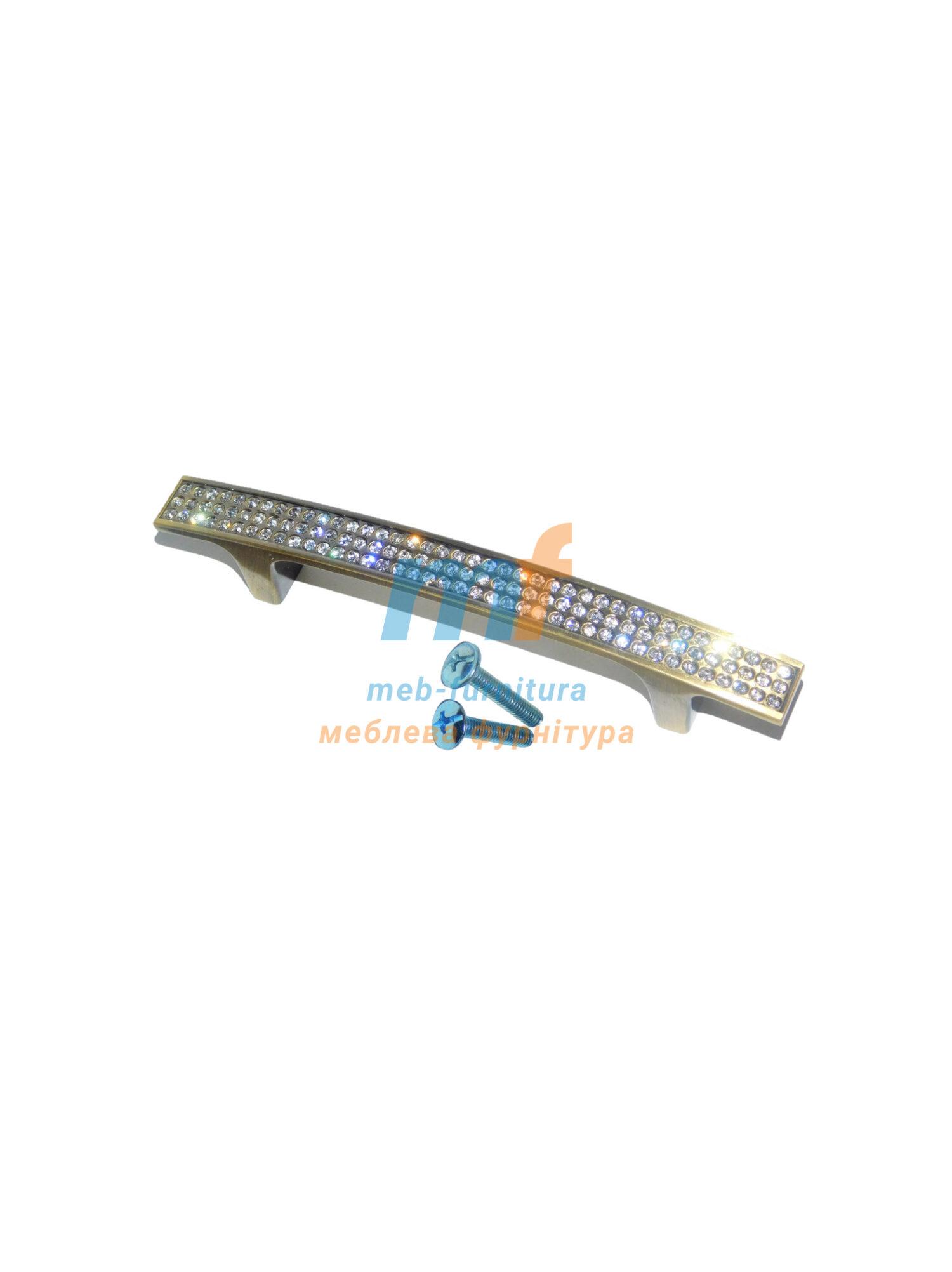 Ручка мебельная KRISTAL 05-96mm Бронза