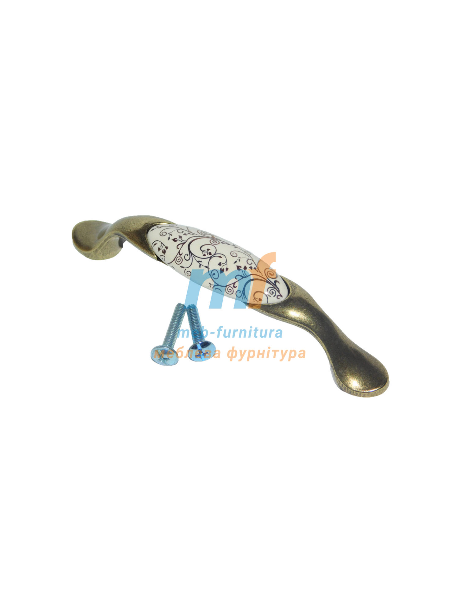 Ручка мебельная керамика KR-03-96mm