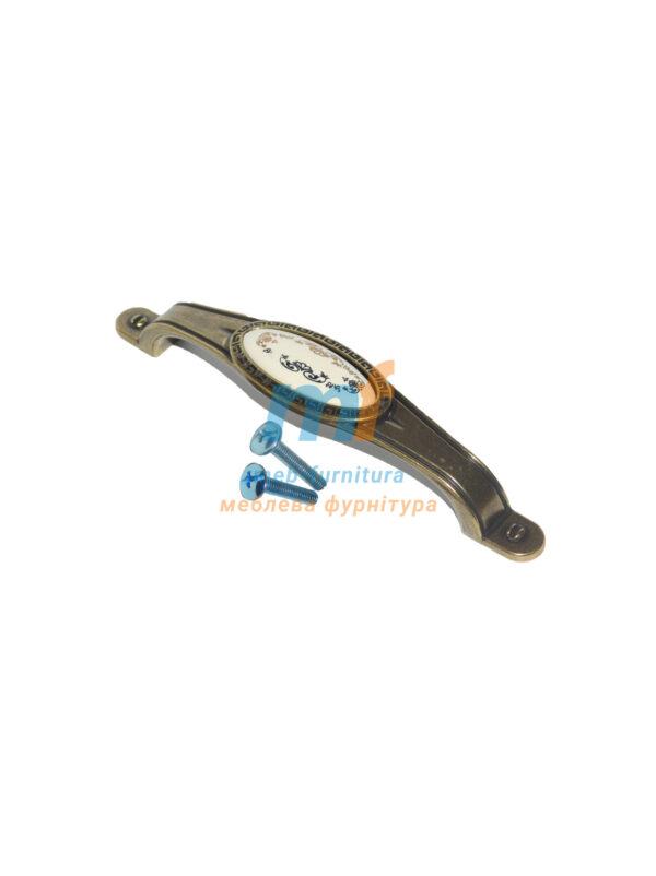Ручка мебельная керамика KR-05-128mm