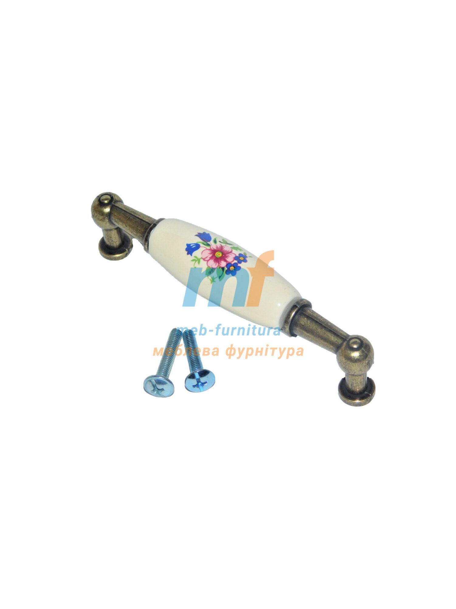 Ручка мебельная керамика KR-06-96mm