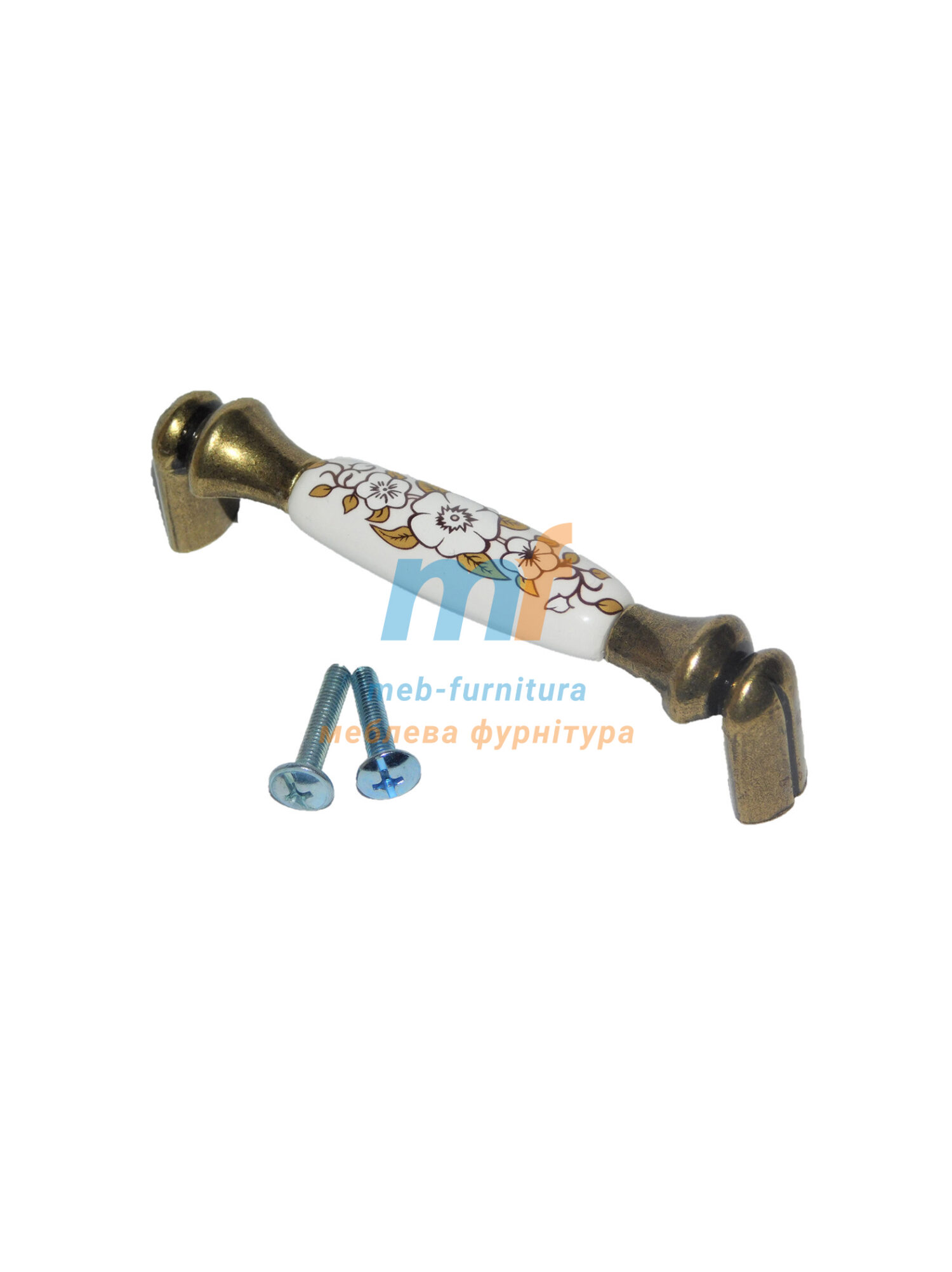 Ручка мебельная керамика KR-11-96mm