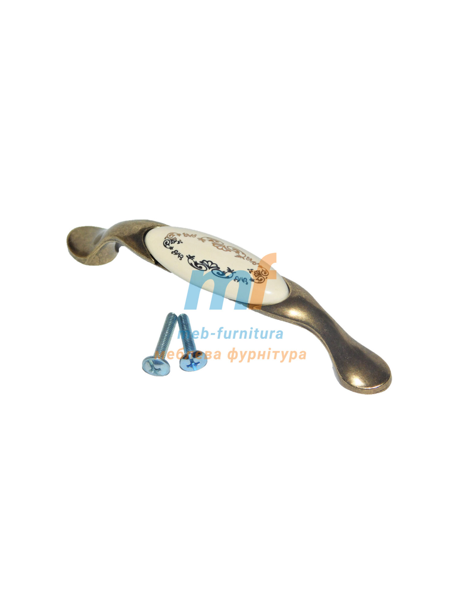 Ручка мебельная керамика KR-13-96mm