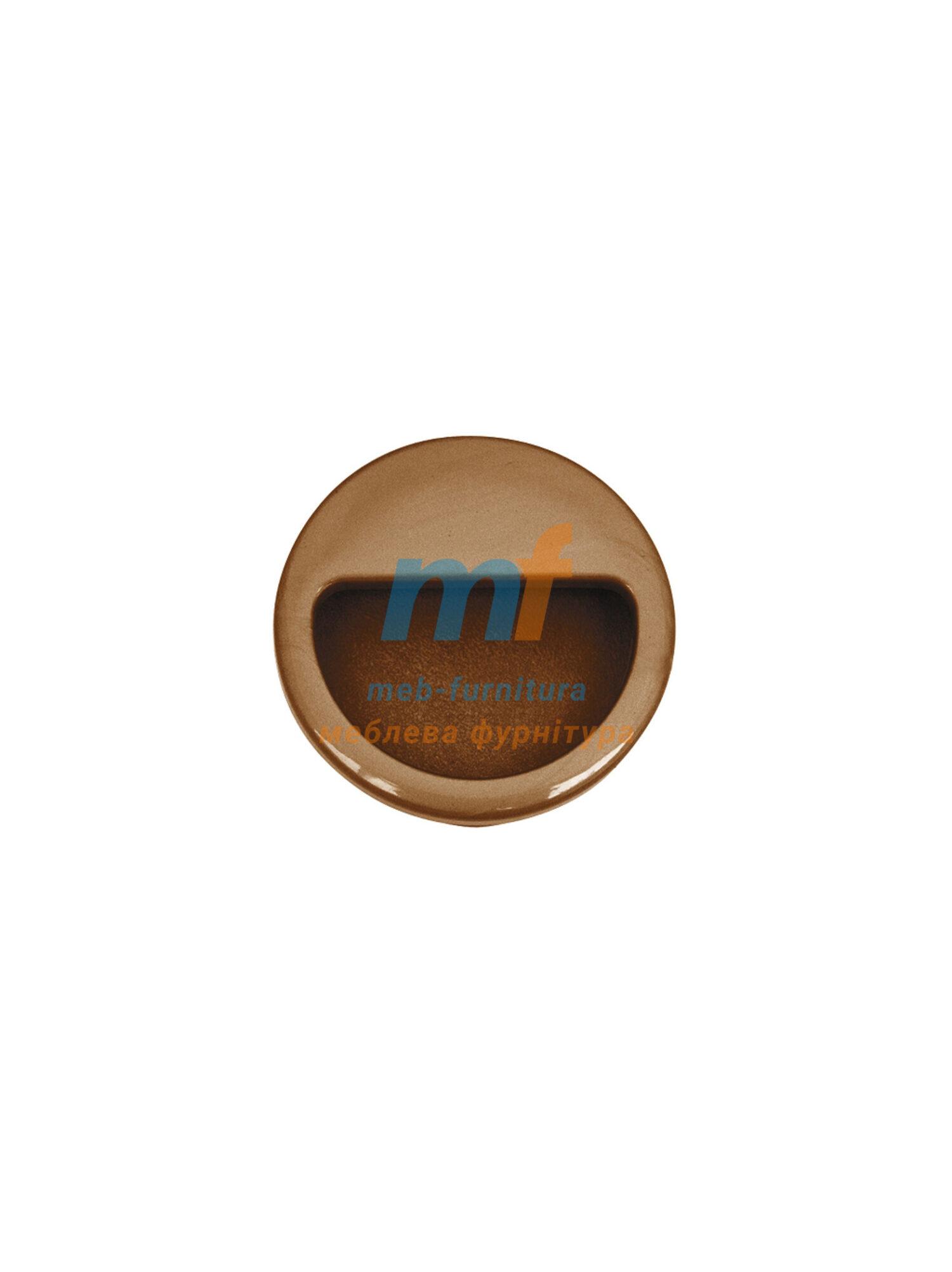 Ручка мебельная врезная круглая- Бук