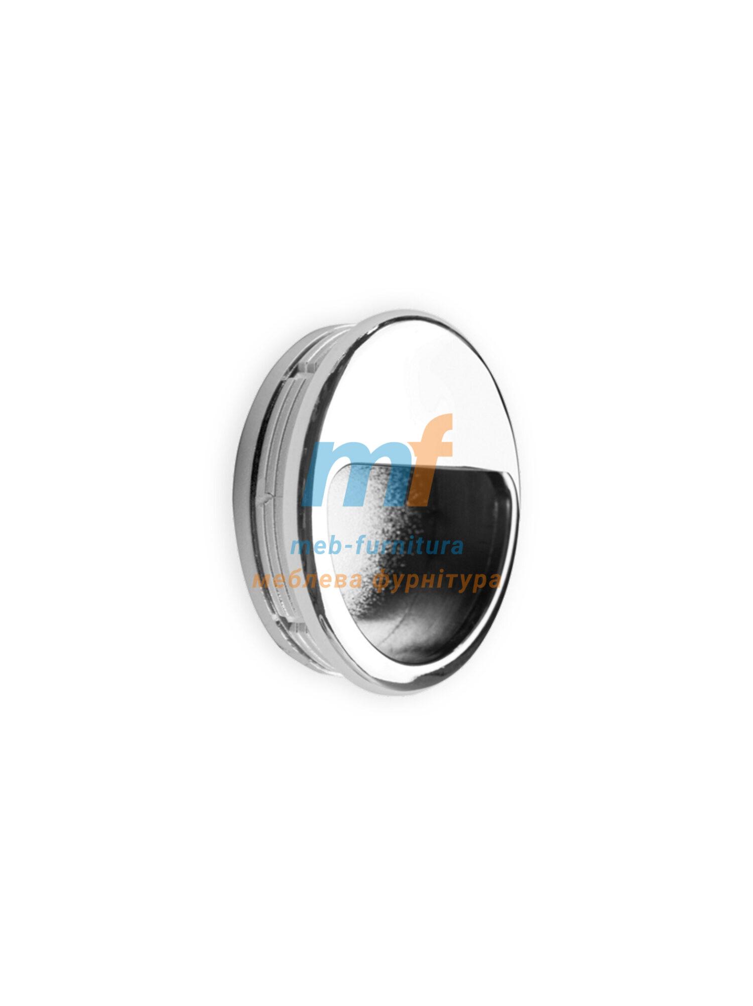 Ручка мебельная врезная круглая- Хром